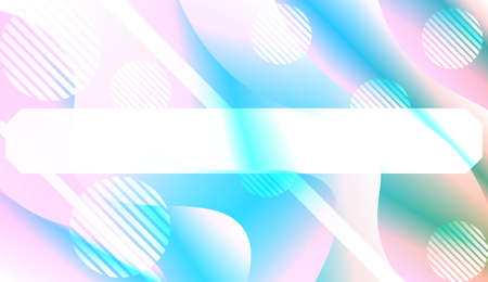 Abstract Shiny Waves, Lines, Circle, Space for Text. For Your Design Ad, Banner, Cover Page. Vector Illustration with Color Gradient 向量圖像