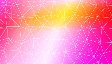 Colorful illustration in abstract polygonal pattern with triangles style with gradient. For your business, presentation, fashion print. Vector illustration. Creative gradient color 免版税图像 - 123370282