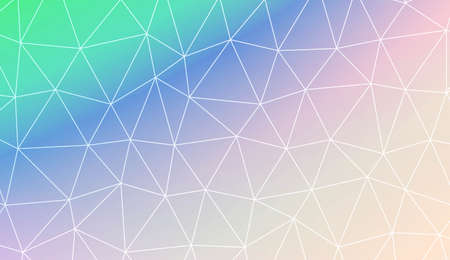 Original background in polygonal pattern with triangles style. For flyer, screen, business presentation. Vector illustration. Creative gradient color