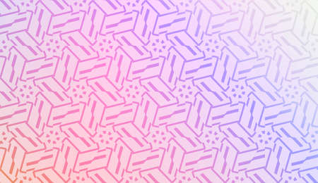 Geometric pattern with pastel color Gradient Color Background Wallpaper. For Your Design Ad, Banner, Cover Page. Vector Illustration