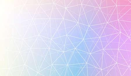 Ilustración colorida en patrón poligonal abstracto con estilo de triángulos con degradado. Para su negocio, presentación, estampado de moda. Ilustración de vector. Color degradado creativo