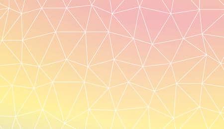 Low poly layout. Decorative design For interior wallpaper, smart design, fashion print. Vector illustration. Creative gradient color. Illustration