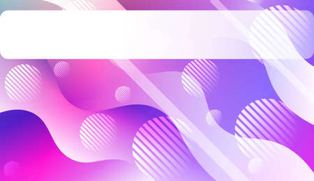 Dynamic shape background With Wave Gradient Shape, Line, Circle, Space for Text. For Futuristic Ad, Booklets. Vector Illustration. 일러스트