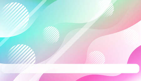 Fluid shapes composition with Abstract Wavy Background with Lines, Circle. For Business Presentation Wallpaper, Flyer, Cover, Landing Page. Vector Illustration with Color Gradient Illustration