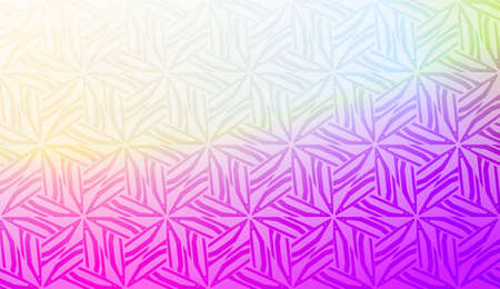 Decorative pattern with geometric ornament. Vector illustration. For fashion print, scrapbooking page, flyer design. Gradient color.