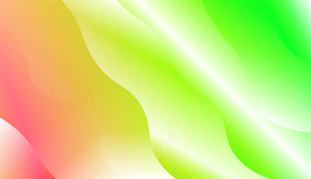 Modern Wavy Background. For Template Cell Phone Backgrounds. Vector Illustration with Color Gradient