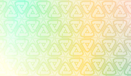 Vector geometric pattern. Triangles curved line. For wallpaper, presentation background, interior design, fashion print. Gradient color. Ilustração