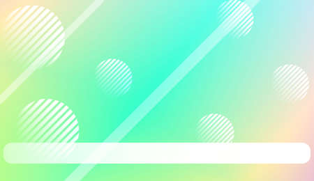 Smooth Abstract Colorful Gradient Background with Line, Circle.s. For Brochure, Banner, Wallpaper, Mobile Screen. Vector Illustration