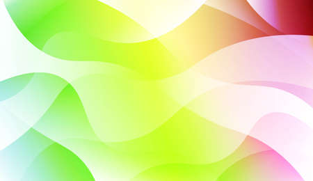 Abstract Wavy Background. For Business Presentation Wallpaper, Flyer, Cover. Vector Illustration with Color Gradient Illustration