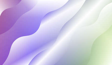 Blurred Decorative Design In Modern Style With Wave, Curve Lines. For Design, Presentation, Business. Vector Illustration with Color Gradient