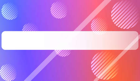 Colorful Gradient Background with Line, Circle. For Web, Presentations And Prints. Vector Illustration Çizim