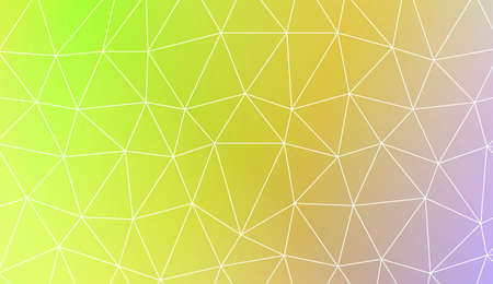 Modern elegant background with polygonal elements. Template for wallpaper, interior design, decoration, scrapbooking page. Vector illustration. Light Gradient Abstract Background