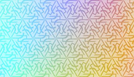 Vector geometric pattern. Triangles curved line. For wallpaper, presentation background, interior design, fashion print. Gradient color. Illustration
