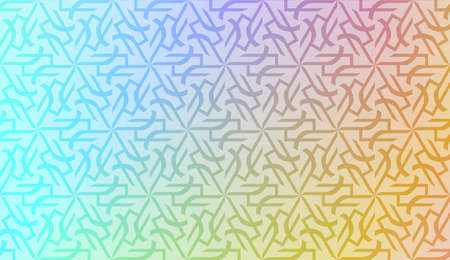 Vector geometric pattern. Triangles curved line. For wallpaper, presentation background, interior design, fashion print. Gradient color. 向量圖像