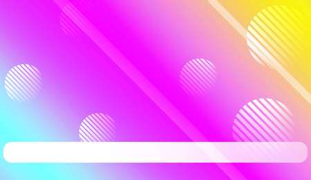 Blur Pastel ColorGradient Background with Line, Circle. For Screen Cell Phone. Vector Illustration