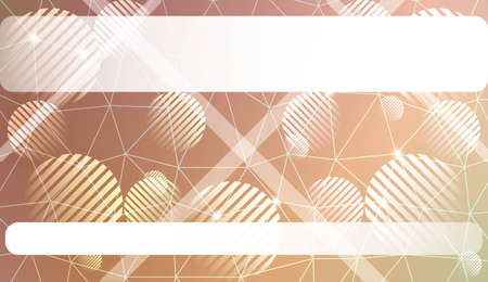 Modern elegant background with triangles, line, circle, space for text elements. Template for wallpaper, interior design, decoration, scrapbooking page. Vector illustration. Light Gradient Background.