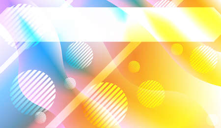 Futuristic Color Design Geometric Wave Shape, Lines, Circle. Dynamic shapes composition for landing page. For Your Banner, Flyer, Cover Page, Landing Page. Vector Illustration with Color Gradient