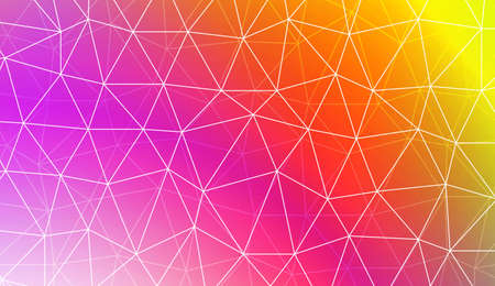 Decorative background with triangles, line. Template for your banner. Vector illustration. Creative gradient color Vettoriali