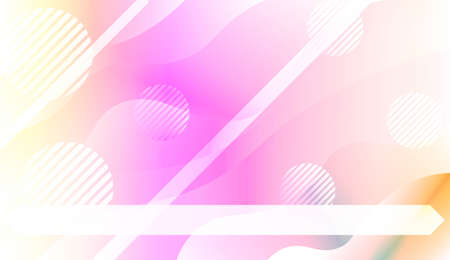 Abstract Background With Wave Gradient Shape, Line, Circle, Space for Text. For Your Design Landing Page Wallpapers Presentation. Vector Illustration with Color Gradient