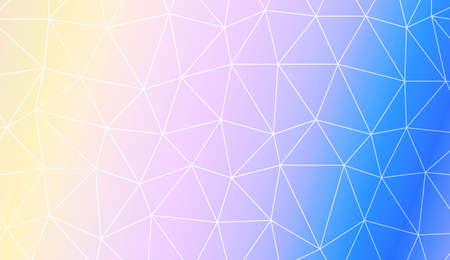 Modern elegant background with polygonal pattern with triangles elements. For interior wallpaper, smart design, fashion print. Vector illustration. Creative gradient color Vectores
