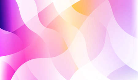 Vibrant And Smooth Gradient Soft Colors Wave Geometric Shape. For Cover Page, Poster, Banner Of Websites. Vector Illustration 向量圖像