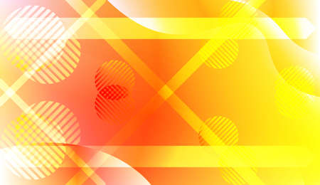 Abstract Shiny Waves, Lines, Circle, Space for Text. For Your Design Ad, Banner, Cover Page. Vector Illustration with Color Gradient  イラスト・ベクター素材