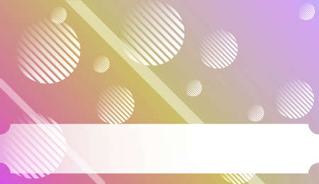 Blurred Decorative Design In Abstract Style With , Curve Lines, Circle, Space for Text. For Futuristic Ad, Booklets. Vector Illustration with Color Gradient