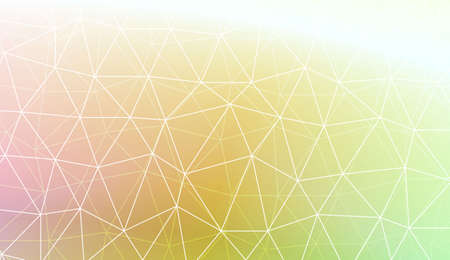 Decorative background with triangles, line. Template for your banner. Vector illustration. Creative gradient color