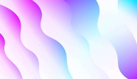 Modern Waves. Futuristic Technology Style Background. For Creative Templates, Cards, Color Covers Set. Vector Illustration with Color Gradient