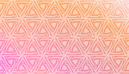 Vector template with Modern geometrical abstract pattern. Gradient color. Иллюстрация