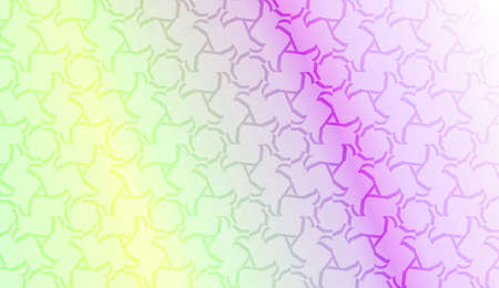 Vector geometric pattern. Triangles curved line. For wallpaper, presentation background, interior design, fashion print. Gradient color. Vectores