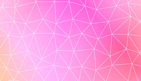 Modern elegant background with polygonal pattern with triangles elements. For interior wallpaper, smart design, fashion print. Vector illustration. Creative gradient color Ilustrace