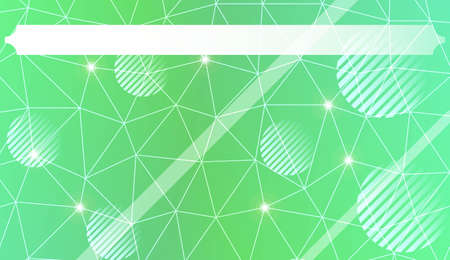 Abstract mosaic background with triangles, line, circle, space for text. Template for your banner. Vector illustration. Creative gradient color