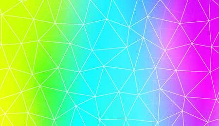 Patroon met abstracte lijn in veelhoekig patroon met driehoeken stijl. Voor modern interieurontwerp, modeprint. Vector illustratie. Creatieve verloopkleur