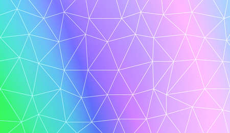 Polygonal pattern with triangles mosaic cover. For your idea, presentation, smart design Vector illustration. Creative gradient color
