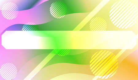 Geometric Pattern With Lines, Wave. For Flyer, Brochure, Booklet And Websites Design Vector Illustration with Color Gradient  イラスト・ベクター素材