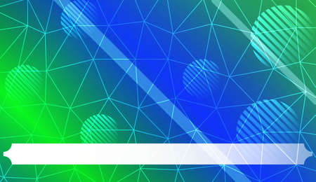 Decorative background with triangles, line, circle, space for text. Bright background for poster, banner, flyer. Vector illustration. Creative gradient color