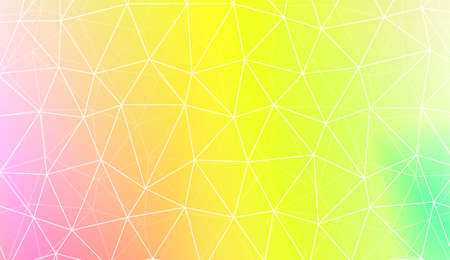 Decorative background with triangles, line. Template for your banner. Vector illustration. Creative gradient color Illustration