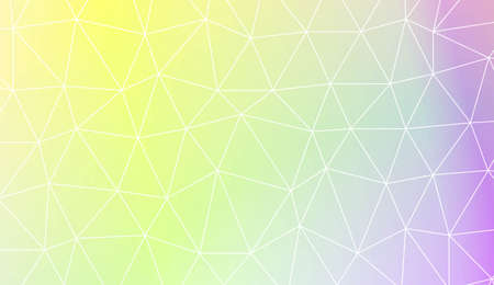 Template background with curved line. Polygonal pattern with triangles style. Decorative design for your idea. Vector illustration. Creative gradient color