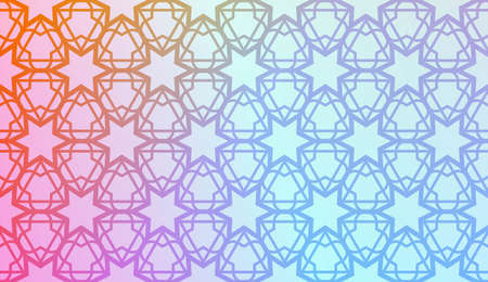 Art deco geometric pattern with Modern pastel color Gradient Design. For Greeting Card, Flyer, Poster, Brochure, Banner Calendar. Vector Illustration. 矢量图像