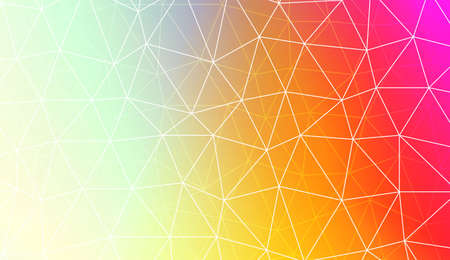 Modern elegant background with polygonal pattern with triangles elements. For interior wallpaper, smart design, fashion print. Vector illustration. Creative gradient color Ilustração Vetorial