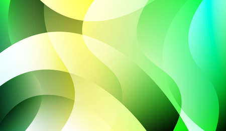 Colored Illustration In Wave Style With Gradient. For Your Design Wallpaper, Presentation, Banner, Flyer, Cover Page, Landing Page. Colorful Vector Illustration