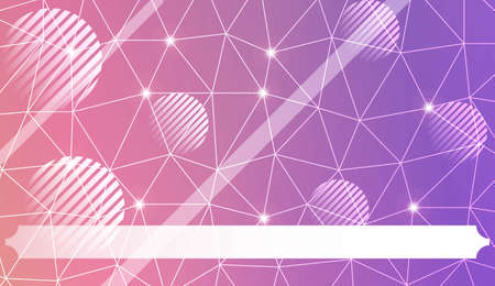 Abstract mosaic backdrop with triangles, line, circle, space for text. Bright background for poster, banner, flyer. Vector illustration. Blurred Background, Smooth Gradient Texture Color