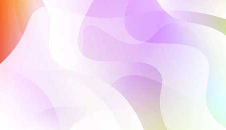 Geometric wave shape with Smooth Abstract Colorful Gradient Backgrounds. For Brochure, Banner, Wallpaper, Mobile Screen. Vector Illustration