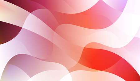 Geometric Wave Shape with Gradient Blurred Abstract Background. For Greeting Card, Flyer, Poster, Brochure, Banner Calendar. Vector Illustration