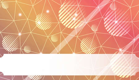 Decorative background with triangles, line, circle, space for text. For flyer, screen, business presentation. Vector illustration. Blurred Background, Smooth Gradient Texture Color