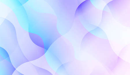 Geometric Pattern With Lines, Wave. Blur Sweet Dreamy Gradient Color Background. For Your Graphic Invitation Card, Poster, Brochure. Vector Illustration 矢量图像