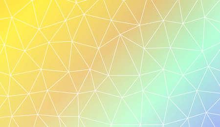 Abstract polygonal template. Design for flyer, wallpaper, presentation, paper. Vector illustration. Creative gradient color