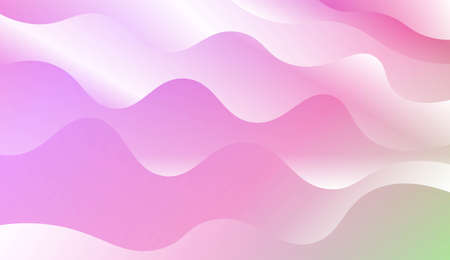 Modern Shiny Waves. For Your Design Ad, Banner, Cover Page. Vector Illustration with Color Gradient