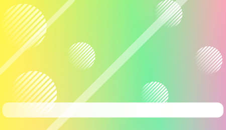 Abstract Background with Lines, Circle. Design For Your Header Page, Ad, Poster, Banner. Vector Illustration with Color Gradient